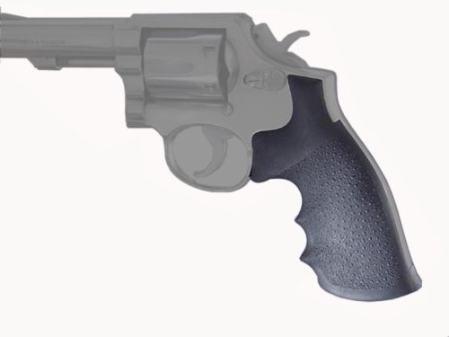 Hogue Rubber Grip S&W K or L Square Butt Rubber - Rubber Hogue Soft