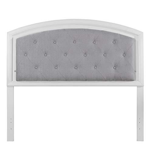 Hillsdale Furniture 7136-470 Lyndon Lane Upholstered Panel LED Lighted Headboard, Full, White (Lyndon Furniture)