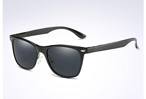 Gafas para Gafas de Eyewears Unisex black Hombres Espejo de TL de Sol sesgados Hombres Rojo Aluminio Negro black Hembra Sunglasses Cuadrados Accesorios 8awO0