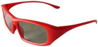 Paquete familiar de 4 pares de pasiva Universal gafas 3D para todos TV y cine 2 adultos rojos y negros y 2 ni/ños en rosa y azul