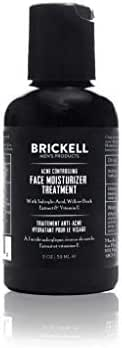 Brickell Men's Acne Controlling Face Moisturizer Treatment for Men, Natural and Organic Acne Controlling Face Moisturizer Treatment to Clear Acne, Even Skin Tone and Moisturize Skin