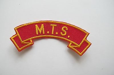 M.T.S. Word Tag Embroidery Sew On Applique Patch by ade_patch