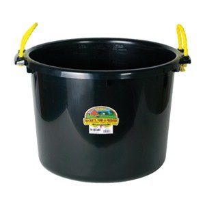 Miller Manufacturing PSB70BLACK Muck Tub/Bucket for Horses, 70-Quart, Black by Miller