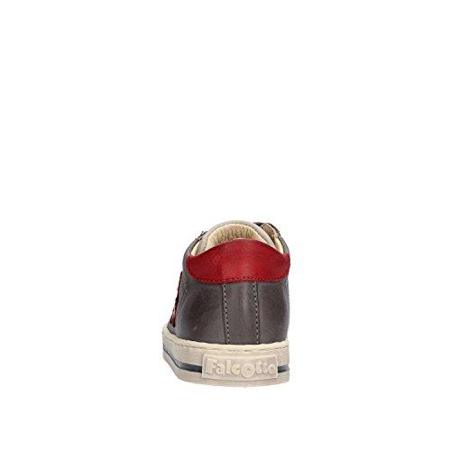 FALCOTTO - Zapato negro y dorado de cordones, de cuero y glitter, ideal para el primer paso y el gateo, Bebé niña 9102 Antr