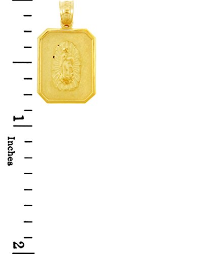 10 ct 471/1000 Or - Mere de Dieu Dame de Guadalupe Or Pendentif