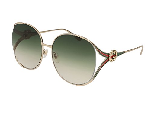 Gucci-GG0225S-003-Gold-Green-GG0225S-Round-Sunglasses-Lens-Category-2-Size-63