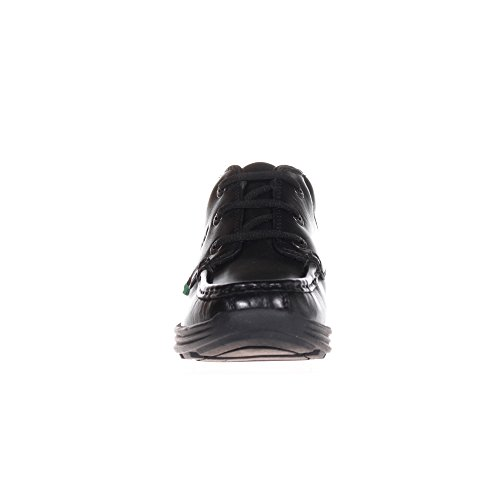 KICKERS Reasan Cuir Junior Enfants Ecole Chaussures Bottes Noir