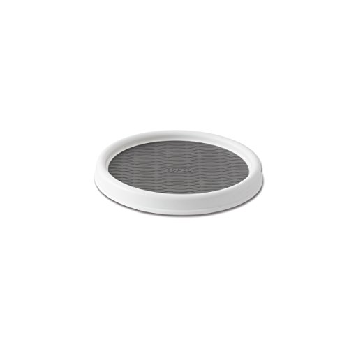 copco 2555 0191 non skid pantry cabinet lazy susan turntable 9 inch whitegray - Turntable Kitchen