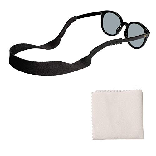 048b233fffa TAGVO Neoprene Sunglasses Holder Strap 3 Pack with Glasses Cleaning Cloth