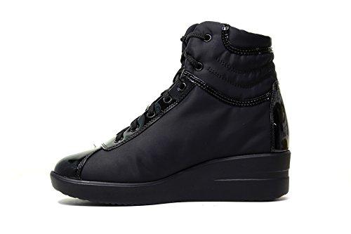 Agile by Rucoline Sneaker con zeppa Donna Nero 200 A BASKET nuova collezione autunno inverno 2016 2017