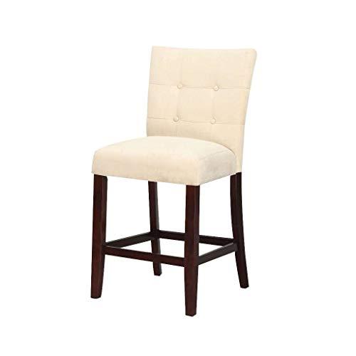 ACME Baldwin Beige Microfiber Counter Height Chair Set of 2