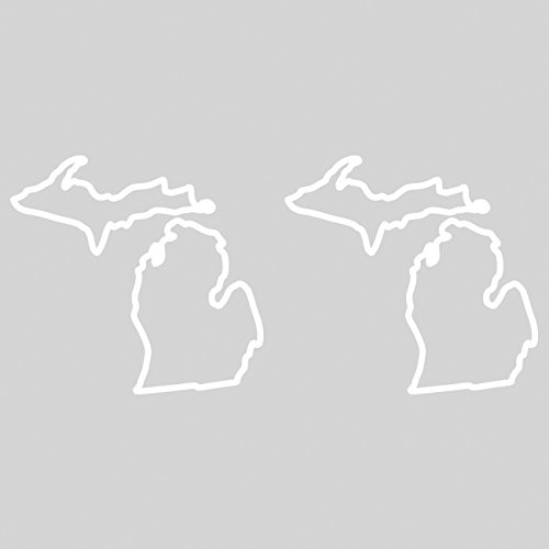 Outline Decal - fagraphix Two Pack Michigan Outline Sticker Self Adhesive Vinyl Decal MI