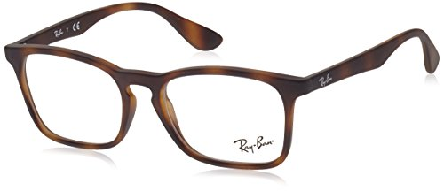 Ray-Ban RY 1553 3616 Rubber Havana Plastic Square Eyeglasses - Pictures Ban Ray