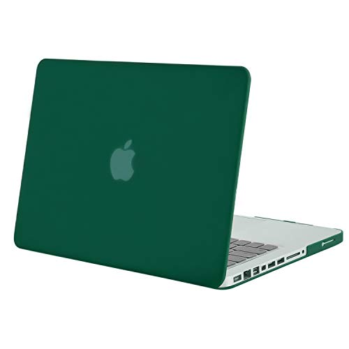 MOSISO Plastic Hard Shell Case Cover Only Compatible Old MacBook Pro 13 Inch (A1278 CD-ROM), Release Early 2012/2011/2010/2009/2008, Peacock Green