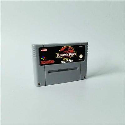 Game card Jurassic Park Part 2 The Chaos Continues- Action Game Cartridge EUR Version ,Game Cartridge 16 Bit SNES , cartridge snes , cartridge super (Jurassic Park Part 2 The Chaos Continues Snes)