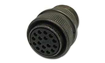 Amphenol Industrial MS3106A18-1S Circular Connector Socket, General Duty, Non-Environmental, Threaded Coupling, Solder Termination, Straight Plug, 18-1 Insert Arrangement, 18 Shell Size, 10 Contacts