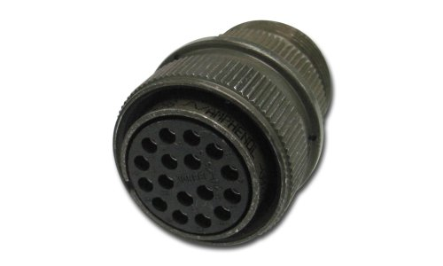 Amphenol Industrial MS3106A10SL-3S Circular Connector Socket, General Duty, Non-Environmental, Threaded Coupling, Solder Termination, Straight Plug, 10SL-3 Insert Arrangement, 10SL Shell Size, 3 Contacts