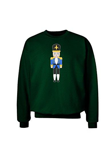 TooLoud Nutcracker Design - Blue Gold Black Adult Dark Sweatshirt - Deep Forest - (Black Forest Nutcrackers)