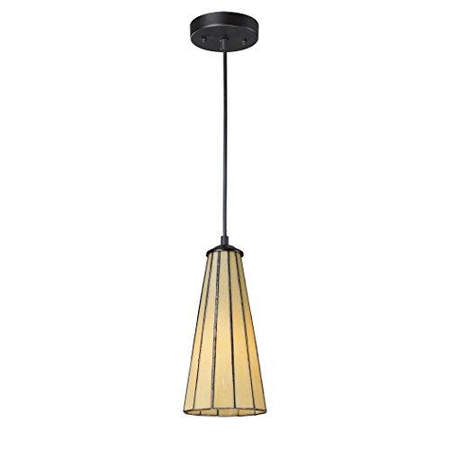 Lumino 1 Light Pendant (Alumbrada Collection Lumino 1 Light Pendant In Matte Black And Hazy Beige)