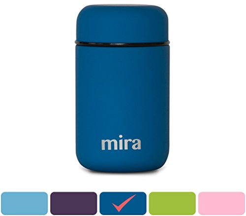 MIRA Lunch, Food Jar, Vacuum Insulated Stainless Steel Lunch Thermos, 13.5 Oz, Denim
