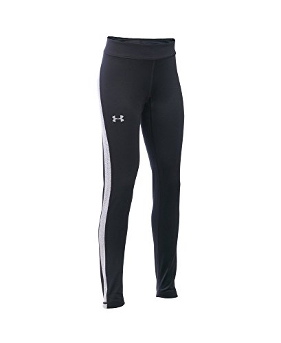 Under Armour Girls' ColdGear Armour Leggings, Black (001), Youth Large