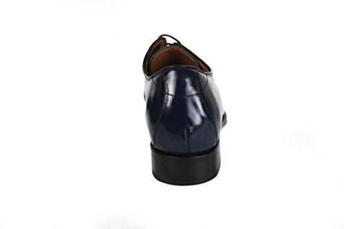Zerimar Nu 20% Korting! Schoenen Met Binnenaanzicht Van 2,7 Inch Elegante Stijl Gemaakt Van Leer 100% Leerkleur Marineblauw Maat 7,5-8 Usa - 42 Eu In