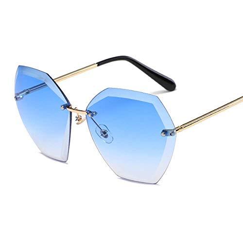 Ksone Sunglasses Women Square Rimless Diamond Cutting Lens Fashion Shades Sun Glasses Female Vintage UV400 ()