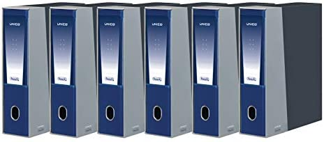 pacco da 6 Favorit 100460525 Registratore Unico con Custodia Formato Interno 23X33 Dorso 8 cm blu