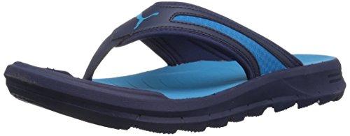 PUMA Men's Wild FLIP Athletic Sandal, Black-Quiet Shade, 7 M US