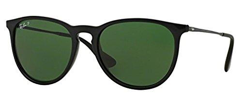 Ray-Ban Erika RB 4171F Sunglasses Black / Green Polarized 54mm & HDO Cleaning Carekit - Polarized Erika Rb