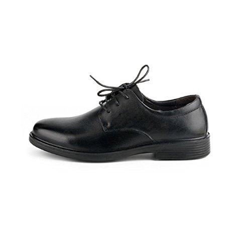 Scarpe da Uomo in Pelle di Oxford con Punta in Pelle Traspirante, Scarpe Casual da Uomo in Pelle Antiscivolo Black