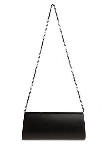 CASPAR para Mujer Elegante Clutch TA332 con Brillo Negro Mano de Lentejuelas XL Fiesta Bolso aawxrYT