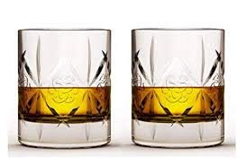 Dewars Scotch Whisky - Dewar's Double Old Fashioned Heavy Base Rocks Glass - Set of 2