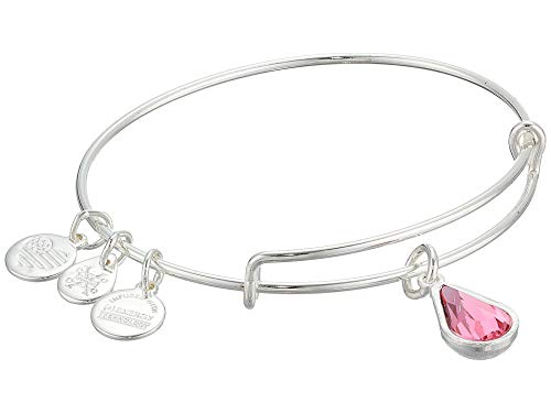 Swarovski Teardrop Bracelet - Alex and Ani Women's Swarovski Teardrop Color Code Bangle Rose One Size