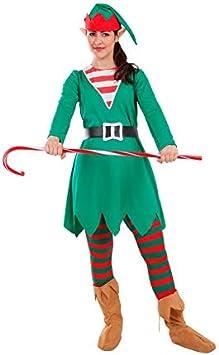 DISBACANAL Disfraz Elfa de la Navidad para Mujer - -, S: Amazon.es ...