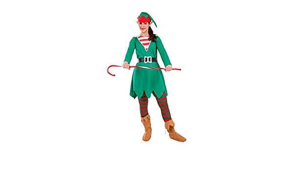 DISBACANAL Disfraz Elfa de la Navidad para Mujer - Único, L ...