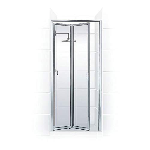 Coastal Shower Doors P2022.70B-C Paragon Series Framed Bi-Fold Double Hinge Shower Door in Clear Glass 22