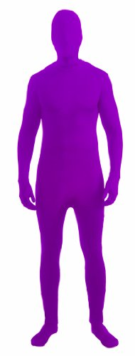 Forum Novelties I'm Invisible Costume Stretch Body Suit, Neon Purple, Child Large