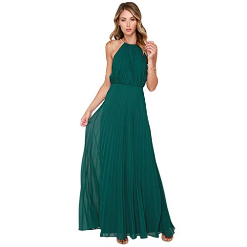 Women Party Summer Maxi Dresses Sleeveless Long Chiffon Sequined Halter Solid Elegant Purple Dresses New - Halter Lucy