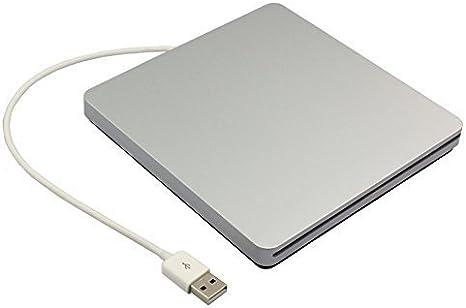 UEB USB 2.0 Carcasa externa de aluminio para 9.5 mm y 12.7 mm IDE ópticos, DVD/