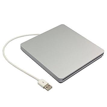 UEB USB 2.0 Carcasa externa de aluminio para 9.5 mm y 12.7 ...