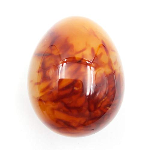 favoramulet Polished Stone Crystal Easter Day Egg for Healing Display Figurine Sphere Sculpture Decoration, Carnelian 1.7-1.9