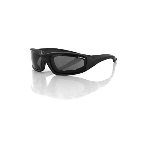 Bobster DECM8-NP Foamerz 2 Sport Sunglasses,Black Frame/Smoked Lens,one size (Bobster Motorcycle Womens Sunglasses)