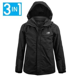 Karrimor 3in1 Waterproof Jacket Mens Black XXXX Large: Amazon.co ...