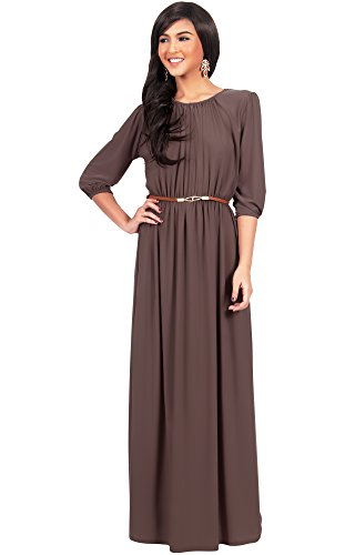 Brown Evening Gowns - 2