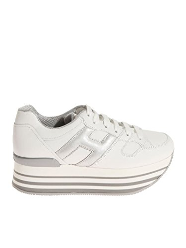 Hogan Zapatillas Para Mujer Plateado/Blanco It - Marke Größe