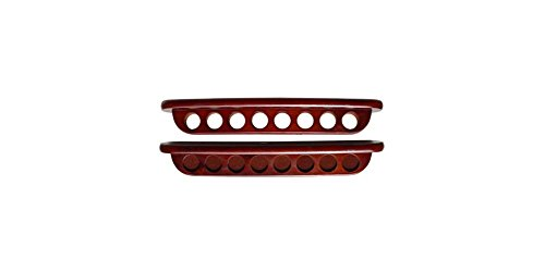 Sterling Deluxe 2 Pc Wall Cue Rack in Mahogany Finish