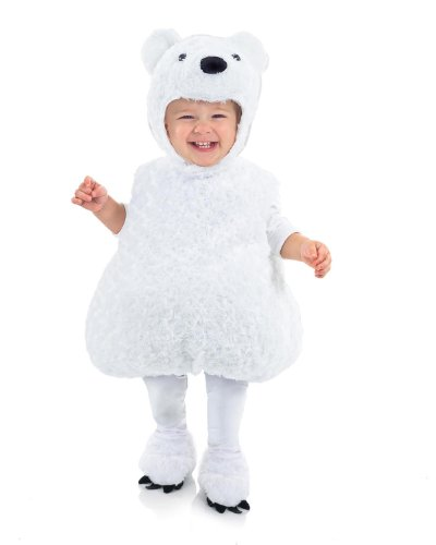 Underwraps Baby's Polar Bear Belly-Babies, White, Large (Sexy Polar Bear Costume)