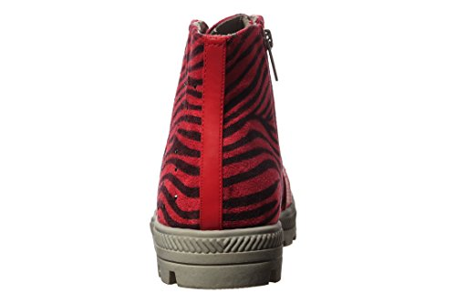 Wanted Print up Ankle Stager Bootie Red Women's Lace Animal rwUqRtWrxX