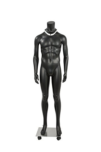 Newtech Display MAM-GHOSTFULL/BLK Photography Ghost Male Mannequin, Full Body, Matte White by Newtech Display